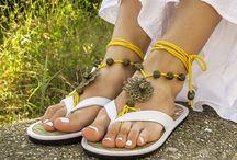 sandalias pies descalzos