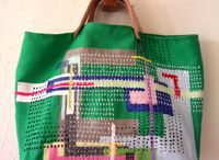 Sashiko bag / Bag with japan's stich style