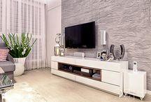 Ściana w salonie