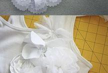 цветы из ткани на одежде