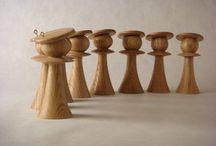 Στολίδια τορναριστα ξύλινα