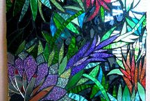 "Glas ...""Mosaic."" Stained Glass """