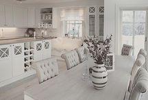 Hvide køkkener i contry stil