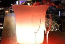 IDEE Natale / Luce ed armonia  Elementi d'arredo luminosi led RGB ricaricabili per interno ed esterno