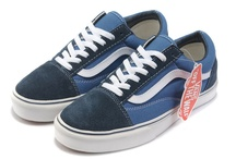 Vans Men & Women Suede/Canvas Old Skool Shoes Navy/Blue