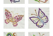 bordado mariposas
