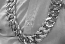 38mm  siver chain
