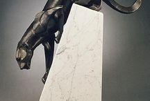 sculptures animales