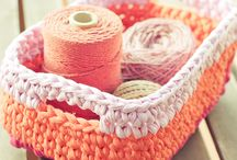 Home decor: crocheting and knitting