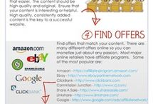 Affiliate Marketing  / Great infographics and tips about making money with affiliate marketing.