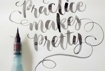 Calligraphy Love / Brush calligraphy, pointed pen calligraphy and lettering