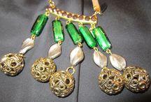 Lina Liri's Handmade Jewerly Necklace Combine Crystals,Balls & Strass. / Lina Liri's Handmade Jewerly Collection Long Necklace Combined Crystals,Balls & Strass.