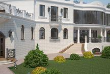 Дизайн проект фасада дома в стиле классика / Пожелания заказчика: оформить дизайн проект фасада дома в стиле классика, в соответствии с его архитектурным решением.