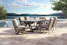 Napoli Collection / A joyful form springs forth in the curves of the CASTELLE NAPOLI collection. The arm and leg design allows for bold curves creating an open side in combination with the upholstered back.
