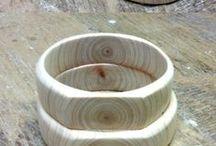 pierscionki z drewna