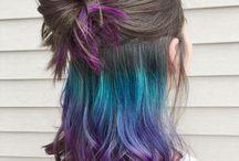 Secret rainbow / #colors #hair