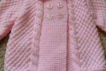dievčenské pletené kabátiky