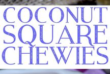 Coconut square chewies