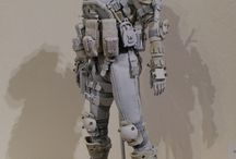 Droid Soldier / Mech soldier & Mech  Police