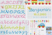 Punto croce baby alfabeti 2*
