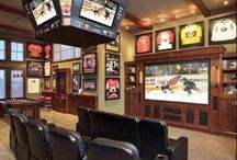 Man Cave/Sports Room <3 / Everything awesome that I want in mine and the hubby's man cave in the future :') <3