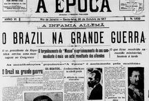 Brasil na I Guerra Mundial. Brazil in WW I (1914-1918). / Following repeated sinking of Brazilian merchant ships by German submarines, in 1917 the Brazilian President Venceslau Brás declared war against the Central Powers, and was the only country of Latin America to be directly involved in the war. The major participation was the Navy's patrol of areas of the Atlantic Ocean.