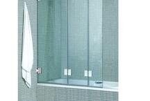 bath with glass door