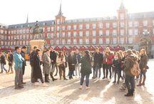 """Actividad especial: """"Una Navidad en Madrid"""" / Salida especial con los alumnos de Español para extranjeros. Visitando los lugares céntricos más emblemáticos de Madrid en Navidad."""