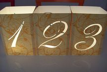 PCF Weddings - Table Numbers / http://www.pcfweddings.com / by Port Charlotte Florist