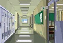 학교 건물 배경자료 ㅇ