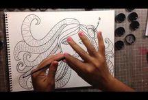 Time-lapse art videos