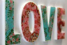 letras e nomes decorados