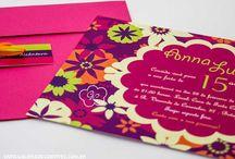 Convites de 15 anos - Galeria de Convites / Convites de 15 anos da empresa Galeria de Convites