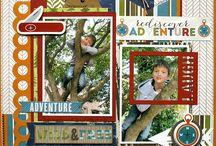 Scrapbooking - 2 photo layouts