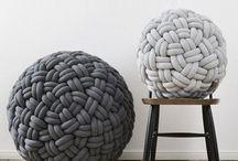 puf - provázky - pletení