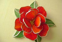 Rode roos / 3 D gemaakt