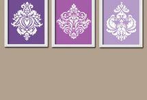 tri set of paintings