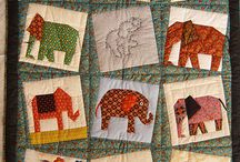 elephant quilt & applique
