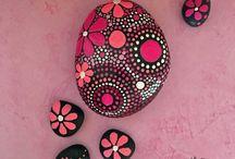 piedras dibujos zen puntillismo