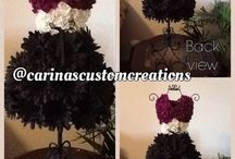 Custom Flower Dress Arrangements / Custom arrangements created by Carina