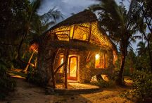 Accomodations that rock!...the bungalows at Ninamu Resort Tikehau / Check out some of these places, including the artisan bungalows handcrafted from native wood and coral at your private island Ninamu Resort.