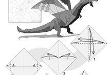 Drak origami