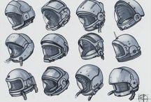 Astronauts helmets