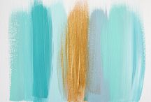Gold and turquoise / by Leslie M