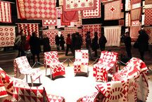 HOME: RED AND WHITE QUILTS / Quilts stitched in red and white.