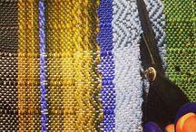Weaving Studio / Behind the scenes in the pidge pidge studio. Looms + yarn + bobbins, oh boy!