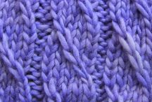 Knit Stitches and Swatches / My Pinterest library of how-to, pattern, charts and tutorials of a variety of knit stitches