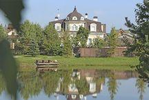 Глаголево парк. Дома на озере