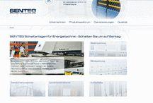 Projektscreens SENTEG GmbH, Frankenthal / Relaunch der Website www.senteg.de mit TYPO3 CMS