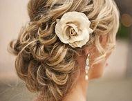 Wedding Hair and Dresses